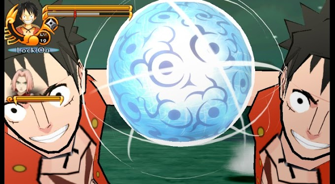 Download Mod Texture Naruto [Luffy From One Piece] NSUNI For Emulator PPSSPP