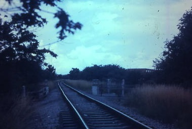 View towards Fareham from Newgate Lane Bridge 1985