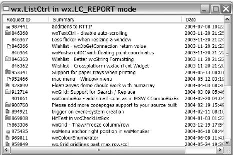 Python-блог: wxPython in Action  Глава 13  Создание списков