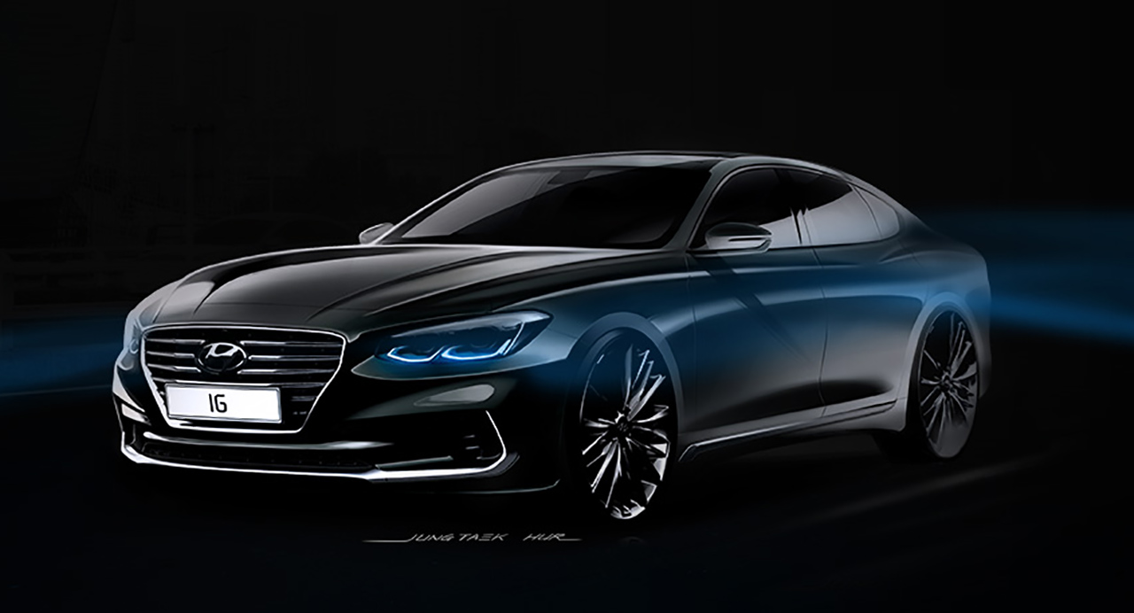 This Is Hyundai S All New 2017 Azera Or Grandeur In Korea And It Looks Pretty Sharp Carscoops