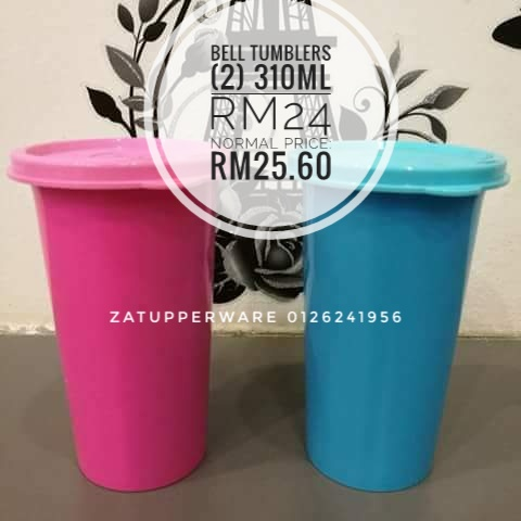 Tupperware Bell Tumbler (2) 310ml