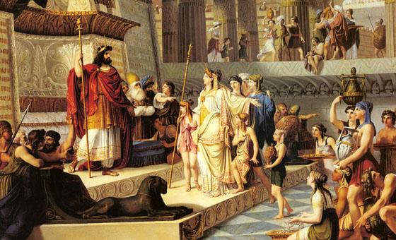 La reina de Saba visita al rey Salomón