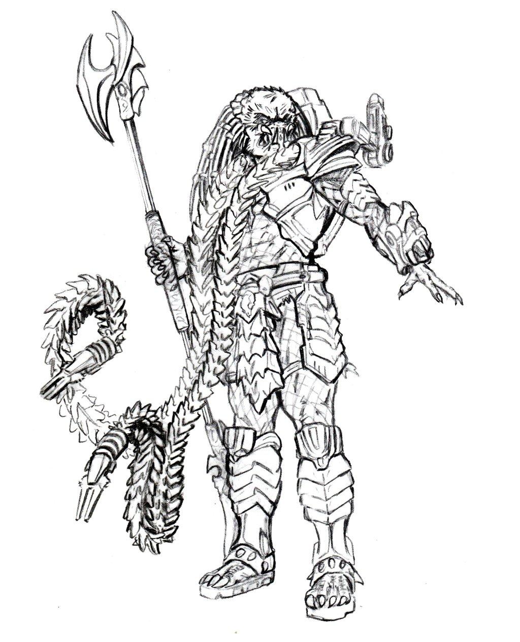 Alien Predator Coloring Pages