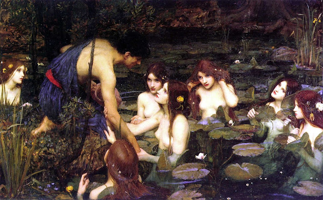 Hylas and the Nymphs by John William Waterhouse (1896)