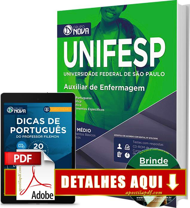 Apostila UNIFESP 2016 Auxiliar de Enfermagem Impressa