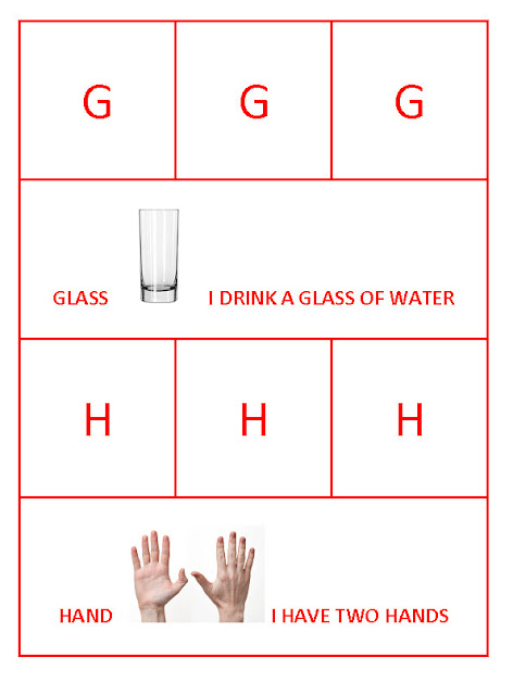 G for Glass and H for hand