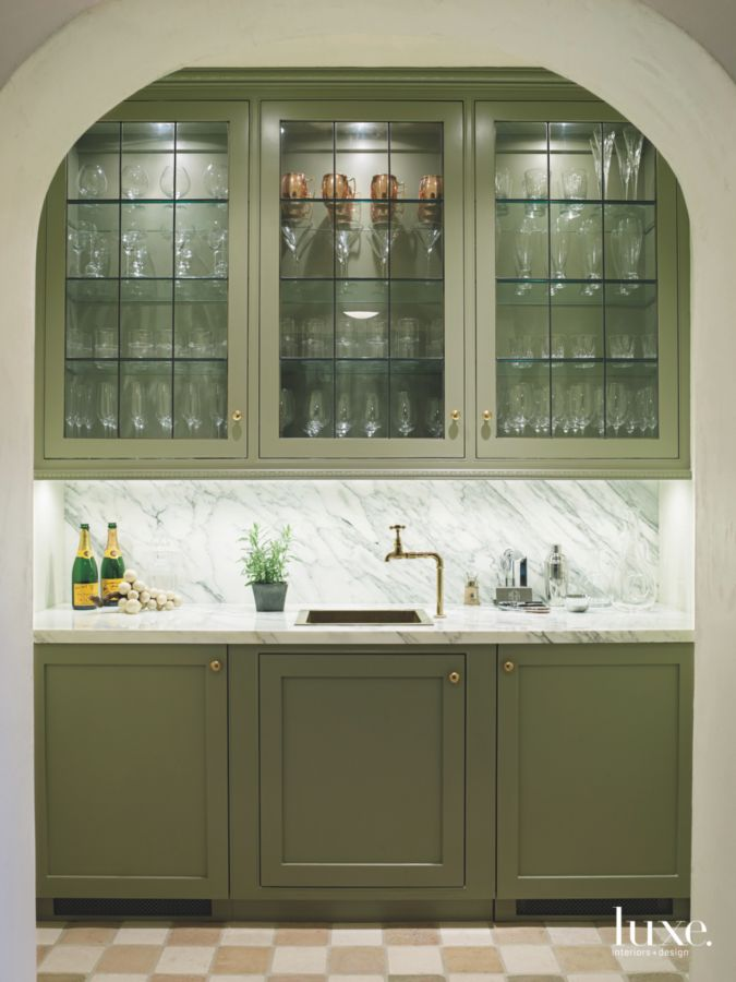 Provence style French chateau butler pantry in Houston - found on Hello Lovely Studio