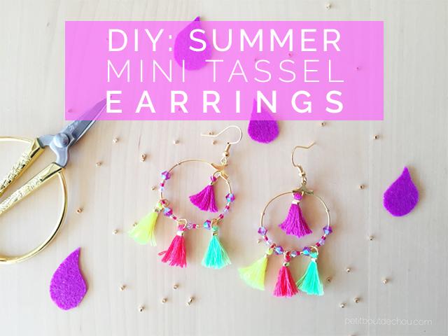 Summer Mini tassel earrings jewellery