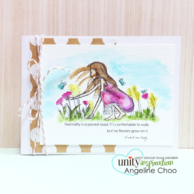 ScrappyScrappy: Watercolor Cards and NEW VIDEOS #scrappyscrappy #unitystampco #stamp #card #cardmaking #phyllisharris #kuretake #zigcleancolor #watercolor #youtube #quicktip