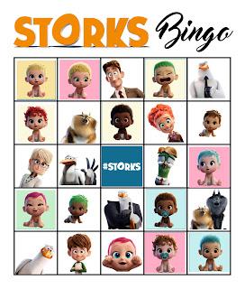 free printable storks bingo