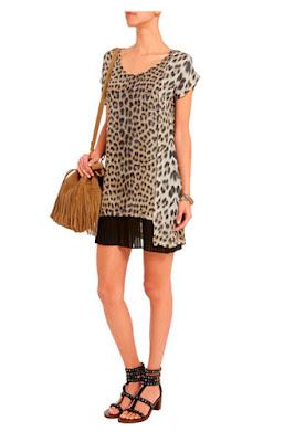 Платье свободного покроя с леопардовым принтом