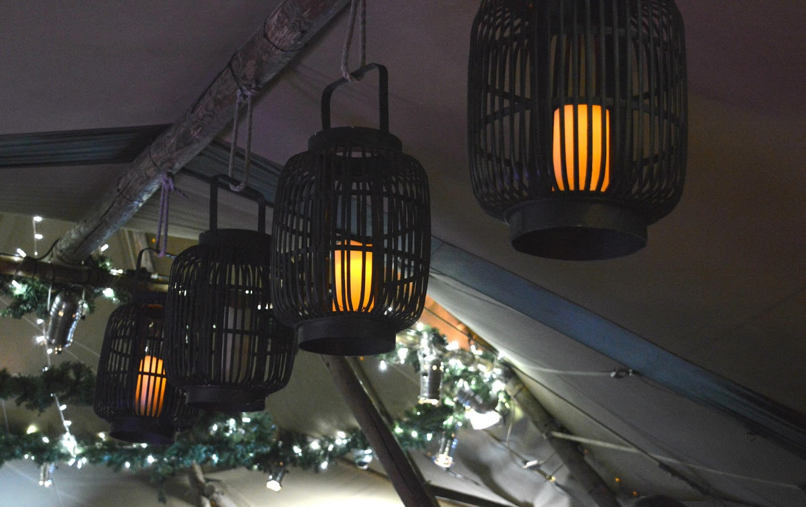 Hadrians Tipi Central Station Newcastle Lanterns