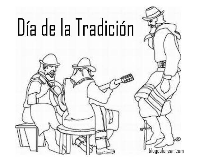 Dibujos día de la tradición argentina
