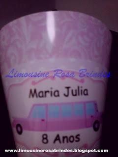 Cone de Guloseimas Limousine Rosa, limousine rosa, lembrancinha limousine rosa, brinde limousine rosa, festa limousine rosa, tema limousine rosa
