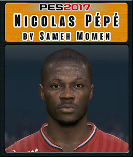 PES 2017 Faces Nicolas Pépé by Sameh Momen