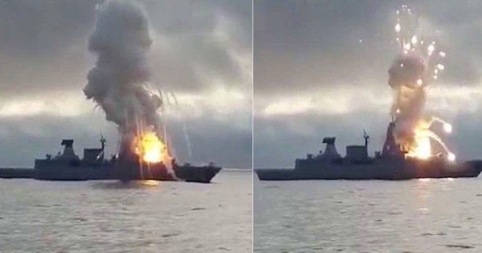 Πύραυλος κόλλησε στον εκτοξευτήρα και διέλυσε γερμανική φρεγάτα βίντεο