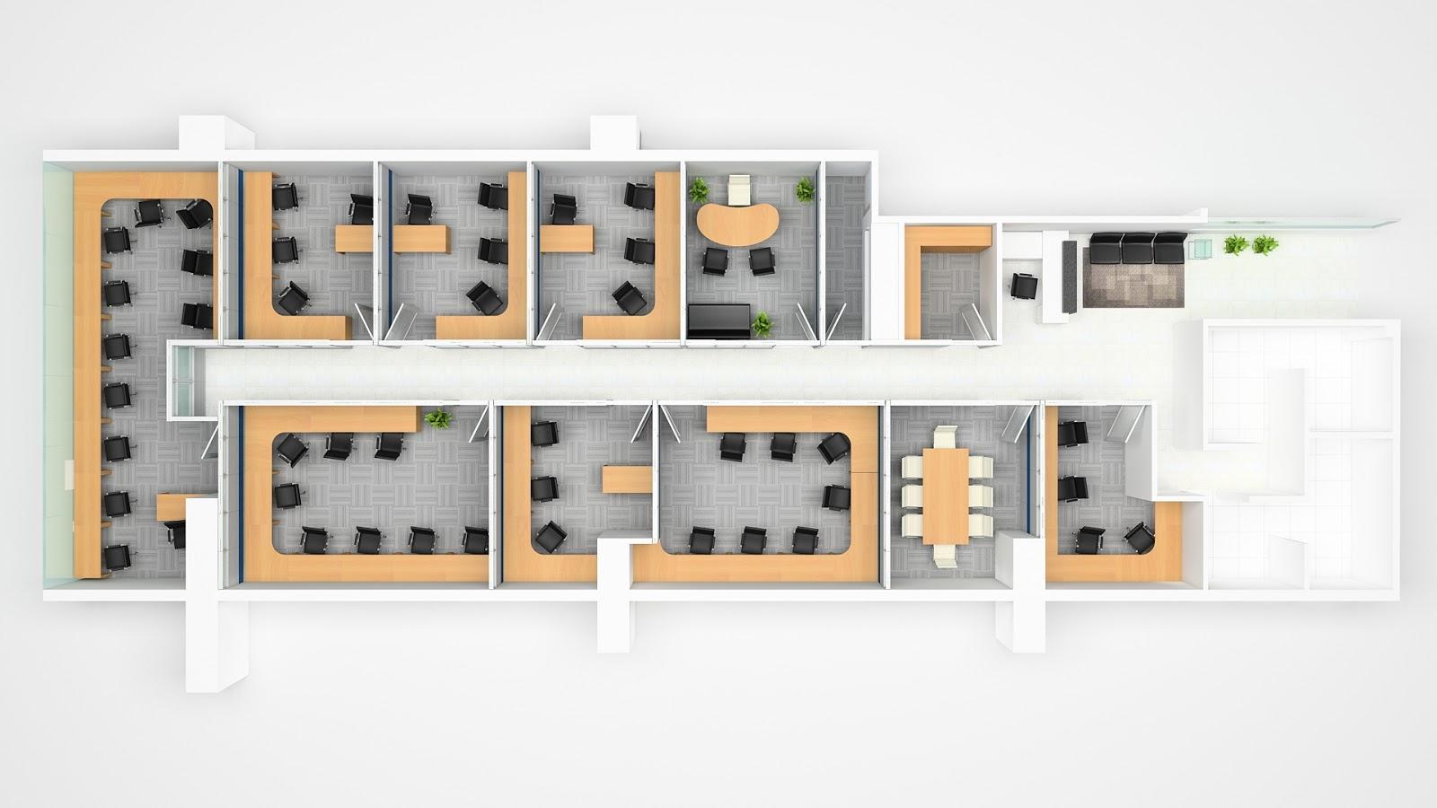 Taty joo 3d design oficinas estudio colmenares for Distribucion de oficinas pequenas