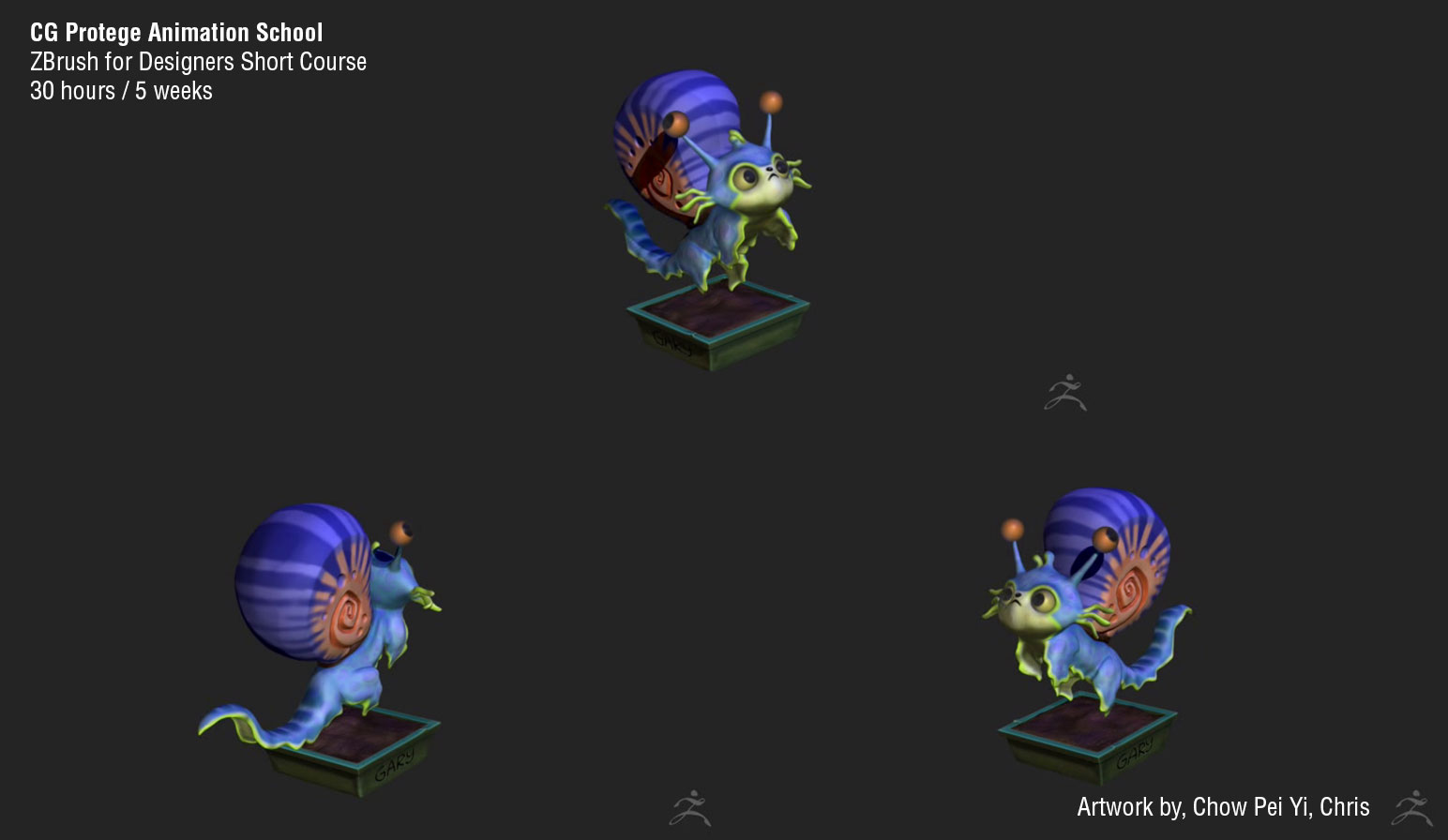 CG Protege Animation School: ZBrush for Designers Class 4