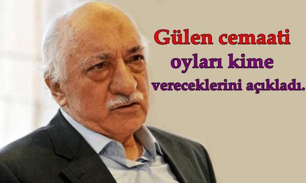 1 Kasım Seçimlerinde Fethullah Gülen Cemaati Oyları Kime Verdi
