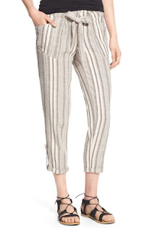 My Michelle stripe crop linen blend pants, SGD 60.98 from Nordstrom