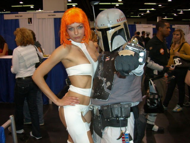 Adrianne Curry as Leelo and Bobba Fett