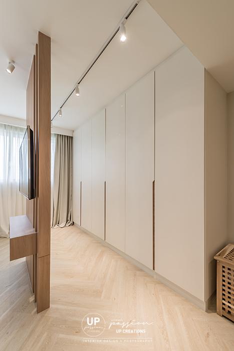 Mont Kiara Pines condo minimalist wardrobe design that enhance the space