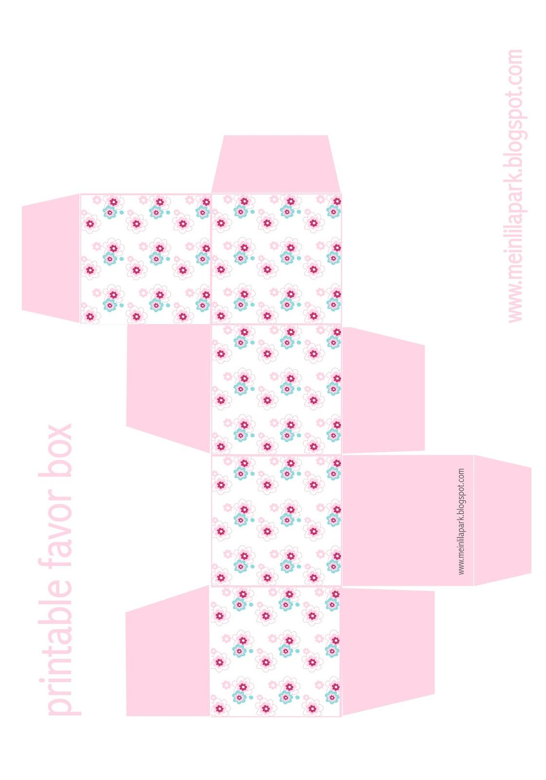 Free Printable Floral Diy T Box