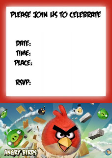 Angry Birds Party Free Printable Mini Kit.