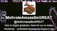 Picture from motivateamazbegreat tweeter profile, representing the inspirational quotes we tweet weekly.