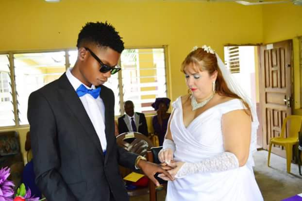 Young Nigerian man and his older British wife enjoy their honeymoon in Ado Ekiti