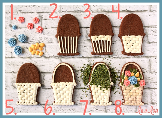 Learn how to use royal icing to make decorated baskets for spring and Easter ~ tutorial