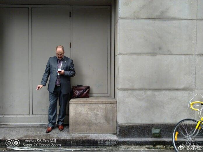 Lenovo S5 Pro Sample Photo - Man Smoking