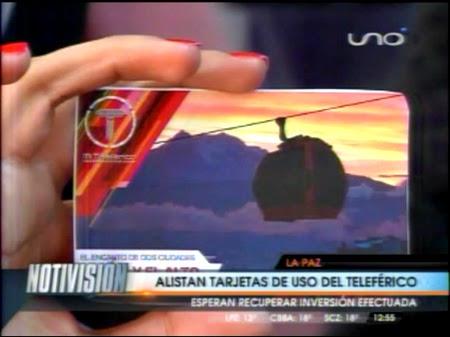 PRESENTAN TARJETAS DE PAGO PARA MI TELEFÉRICO
