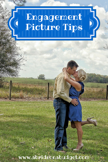 Are you taking engagement photos? This post from www.abrideonabudget.com gives you a bunch of engagement picture tips.