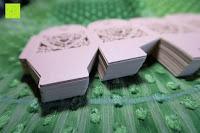 Stapel: 50pcs Love Heart Laser Wedding Favor Gift Box Kartonage Schachtel Bonboniere Geschenkbox Hochzeit (Pink)