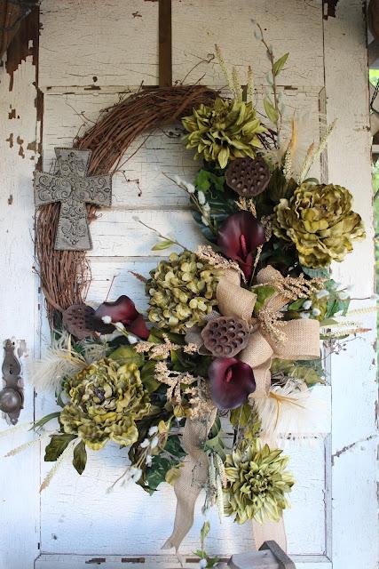 rustic elegant floral wreath