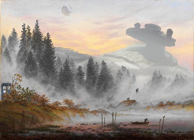 Caspar Friedrich version Star Wars ET et Dr Who
