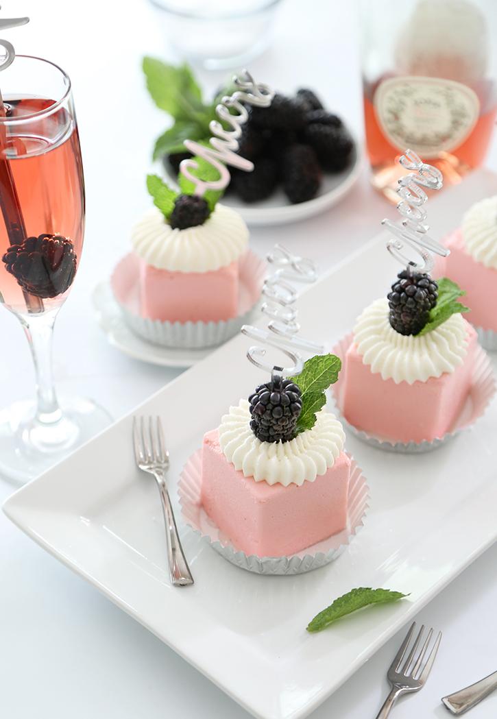 Mini Rose Wine Toasting Cakes By Heather Baird