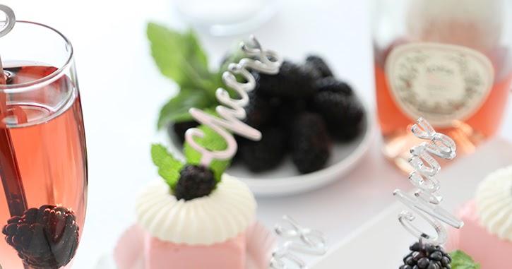 Mini Ros 233 Wine Toasting Cakes Sprinkle Bakes