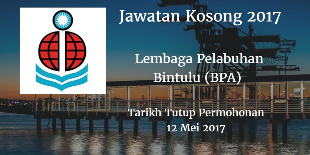 Jawatan Kosong Lembaga Pelabuhan Bintulu (BPA) 12 Mei 2017