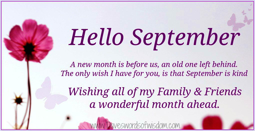 Daveswordsofwisdom Hello September