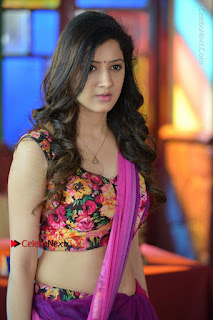 Actress Richa Panai Stills in Half Saree at Rakshaka Bhatudu Sets  0003.JPG