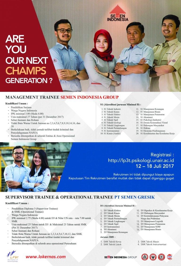 Lowongan Kerja Semen Indonesia Group Untuk S1 D3 Dan Smk Besar Besaran Tahun 2017 Lowongan Kerja Dan Rekrutmen Bulan Juni 2021