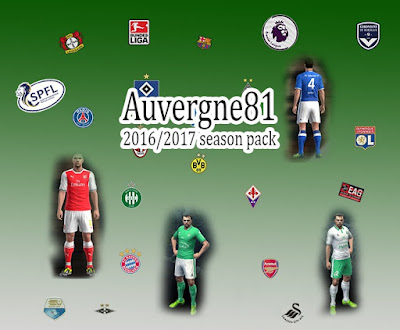 PES 2013 1st Kit Pack 2016/2017 by Auvergne81
