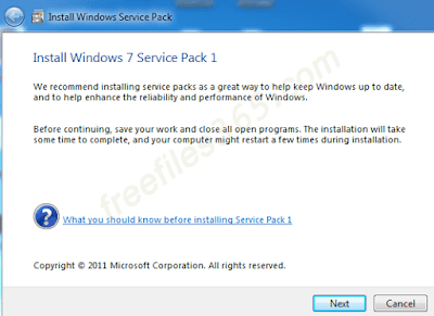Windows 7 Service Pack 1 (SP1) full version