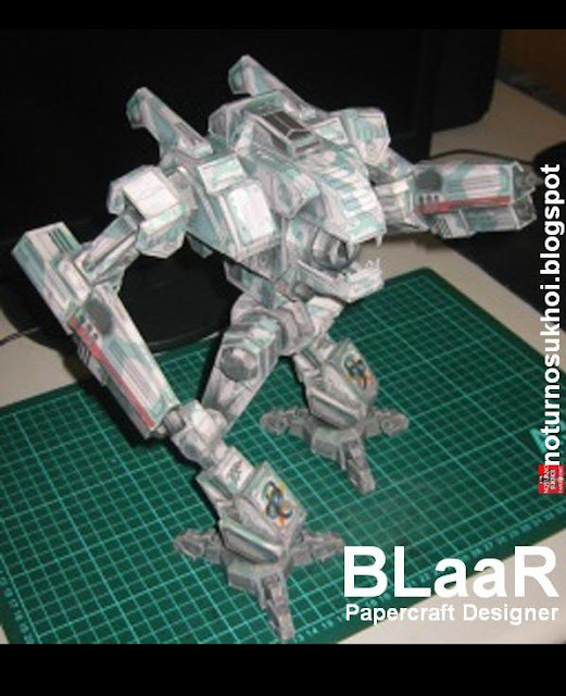 Mechwarrior 4: Mektek Wildcat Mech Papercraft