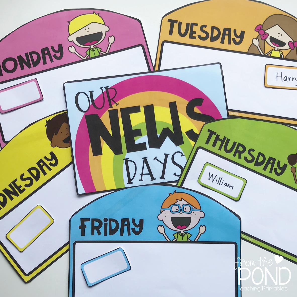 Classroom News Chart