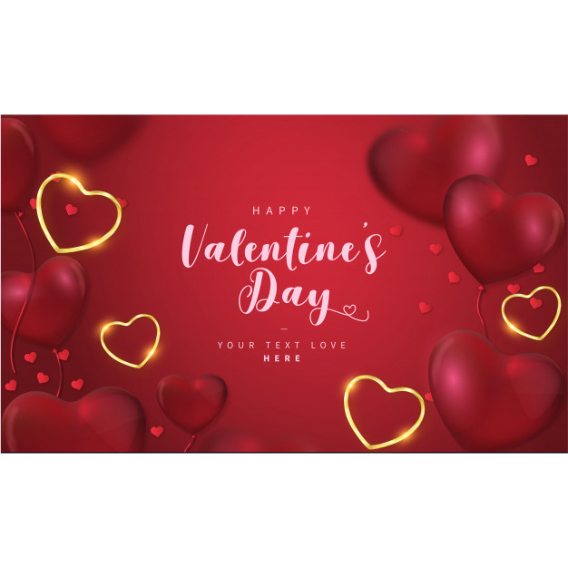 Lovely happy valentine's day background with hearts Free Vector