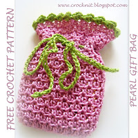 free crochet patterns, gift bag, drawstring bag, how to crochet,