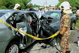 Lima Maut Kemalangan di Jalan Ipoh - Lumut